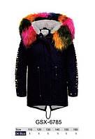 Куртки з хутром для дівчаток оптом, розміри 110-160 Glo-story, арт. GSX-6785, фото 1
