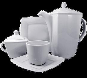 Чайный сервиз квадратный 4 предмета, фото 2