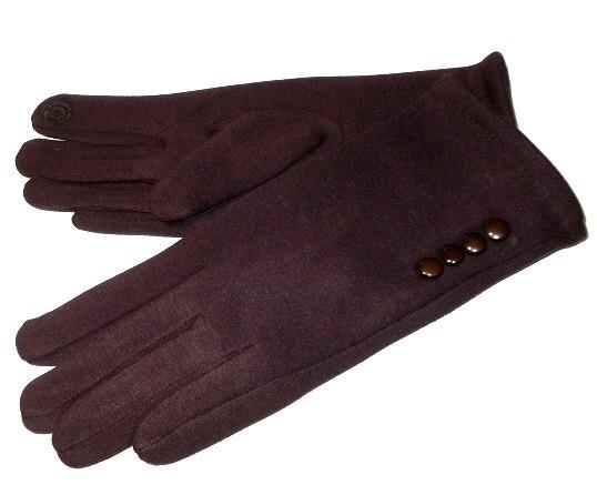 Перчатки с Пуговицами Сенсорные Шоколад Размер 8.5 — в Категории
