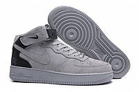 Мужские кроссовки Nike Air Force 1 Mid Reigning Champ Reflective Grey (Реплика)
