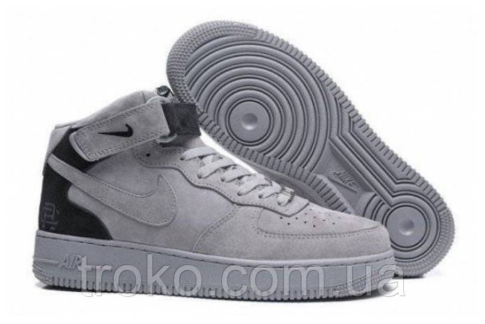 sports shoes 1cd1e e47ab Мужские кроссовки Nike Air Force 1 Mid Reigning Champ Reflective Grey  (Реплика)
