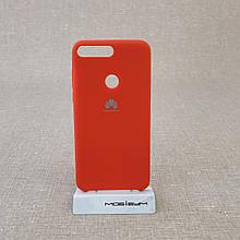 Чехол Original Soft Huawei Y7 Prime 2018 red
