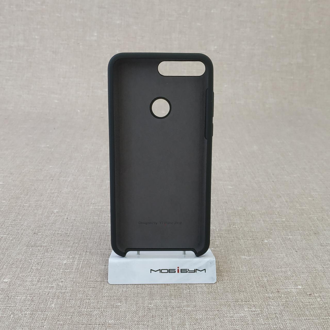Чехол Original Soft Huawei Y7 Prime 2018 black Для телефона