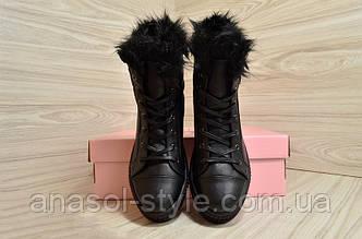 Ботинки женские зимние Vikttorio черные
