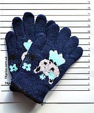 Детские шерстяные перчатки для девочки одинарные - длина 13 см, фото 2