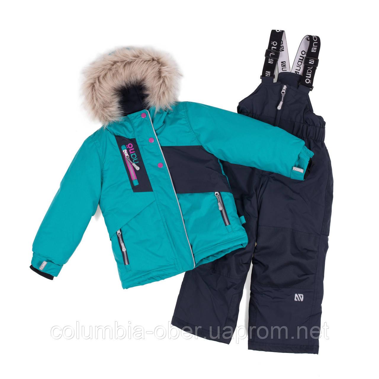 Зимний комплект для девочки NANO F18 M 280 New Paon. Размеры 5-12.
