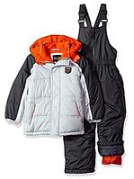 Зимний раздельный комбинезон iXtreme серый с оранжевым для мальчика 12мес