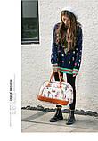 Дорожная сумка искусственная кожа(28*45)только ОПТ, фото 2
