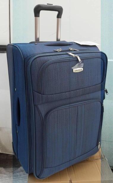 CR25 Чемодан дорожный CRUISER синий полоска (малый), фото 1