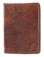 Обложка на паспорт GRANDE PELLE 00231 кожа Коричневая, Коричневый, фото 1