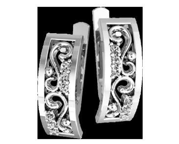 Серьги серебряные Вензеля 41099