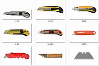 Ножи строительные, лезвия, стаместки, инструмент для работы по дереву