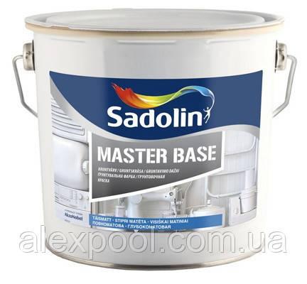Краска Sadolin MASTER BASE -  грунтовочная краска, белый BW, 1 л.