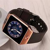 Смарт-часы (Smart Watch) Умные часы DZ09 gold, фото 2