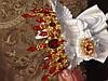 Корона і сережки набір Герда діадема висока прикрас діадема вечірня Тіара червона, фото 2