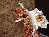 Корона і сережки набір Герда діадема висока прикрас діадема вечірня Тіара червона, фото 4