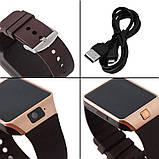 Смарт-часы (Smart Watch) Умные часы DZ09 gold, фото 7
