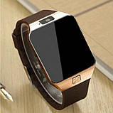 Смарт-часы (Smart Watch) Умные часы DZ09 gold, фото 5