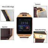 Смарт-часы (Smart Watch) Умные часы DZ09 gold, фото 6