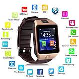 Смарт-часы (Smart Watch) Умные часы DZ09 gold, фото 9
