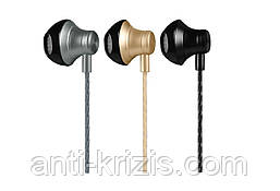 Навушники HOCO M18 Goss metal з мікрофоном black