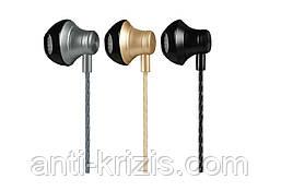 Навушники HOCO M18 Goss metal з мікрофоном gold