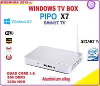 Pipo X7 TV BOX WINDIWS 8.1 -1.8 ГГц 4ядра 2 ГБ DDR3 / 32 ГБ HDD + IPTV +настройки I-SMART