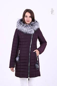 Куртка зимняя женская теплая Номи с искусственным мехом