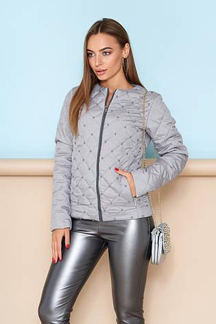 58b2ef0935d Модная женская короткая демисезонная стеганая куртка без воротника на  молнии