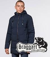 "Подросток 13-17 лет | Зимняя куртка Braggart ""Teenager"" 25400 темно-синяя"