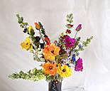 Искусственная ветка мака, 2 цветка и бутон, фото 2