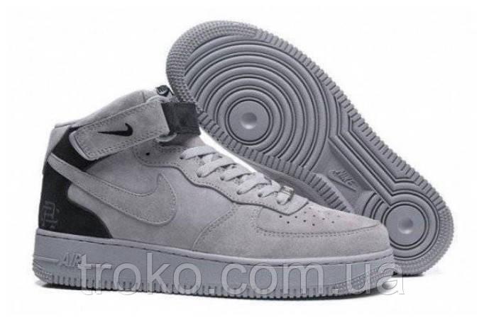 3d93ecf7 Женские кроссовки Nike Air Force 1 Mid Reigning Champ Reflective Grey  (Реплика)