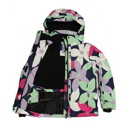 Детская зимняя мембранная термокуртка для девочки 8-9 лет Disumer (Snowest) мятная, фото 2