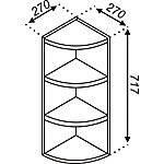 Кухонная секция Импульс В 30КЗ (717) пов. с закругл.