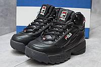 Зимние ботинки  на меху Fila Disruptor 2 High, черные (30191) размеры в наличии ► [  37 (последняя пара)  ](реплика)