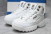 Зимние ботинки на меху Fila Disruptor 2 High, белые (30192),  [  40 (последняя пара)  ]