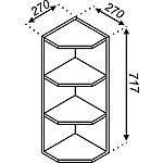 Кухонная секция Импульс В 30КЗ (717) пов. со срезом