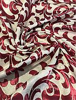 Ткань для штор блэкаут бархатный завиток Бордо, фото 1