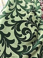 Ткань для штор блэкаут бархатный завиток Зеленый