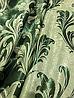 Ткань для штор блэкаут бархатный завиток Изумруд