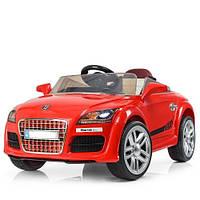 Детский электромобиль КХ 1778 Audi, автопокраска, колёса EVA, кожаное сиденье, красный