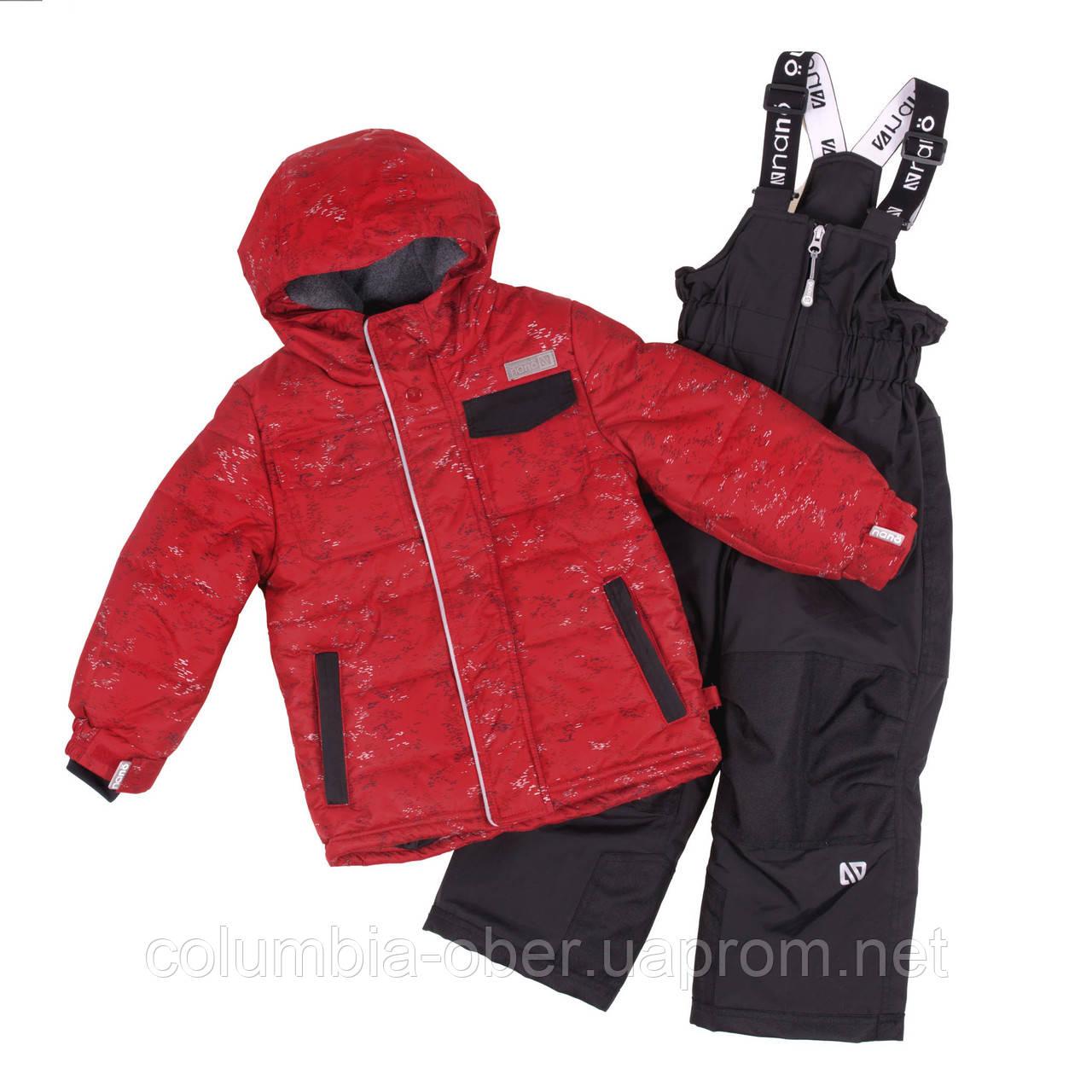 Зимний комплект для мальчика NANO F18 M 255 Really red. Размеры 2-12.