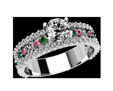 Кольцо  женское серебряное Феерия 21043