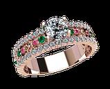 Кольцо  женское серебряное Феерия 21043, фото 2