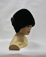 """Норковая шапка папаха """"Леди"""" (черная)"""