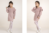 Розовое детское платье, 100% акрил, рост 98-122 см., 422/382 (цена за 1 шт. + 40 гр.)