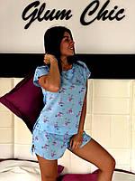 Хлопковая пижама  футболка и шорты, фото 1