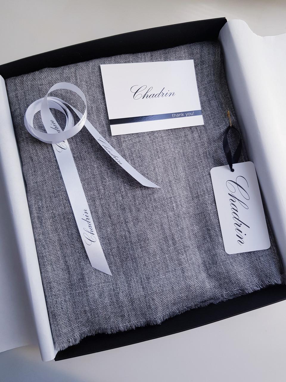 Кашемировый вуальный шарф Chadrin серый мужской, фото 1