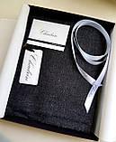 Кашемировый вуальный шарф Chadrin черный мужской, фото 2