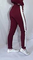 Штаны брюки спортивные с лампасами женские 38-50 р. Штани з двонитки  з лампасами різні кольори